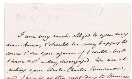Inzamelactie geslaagd: Jane Austen's House Museum kan originele brief aankopen