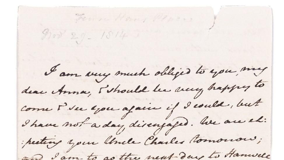 Museum zoekt gulle gevers voor aankoop brief Jane Austen