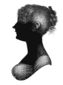 Silhouet van Cassandra Austen.