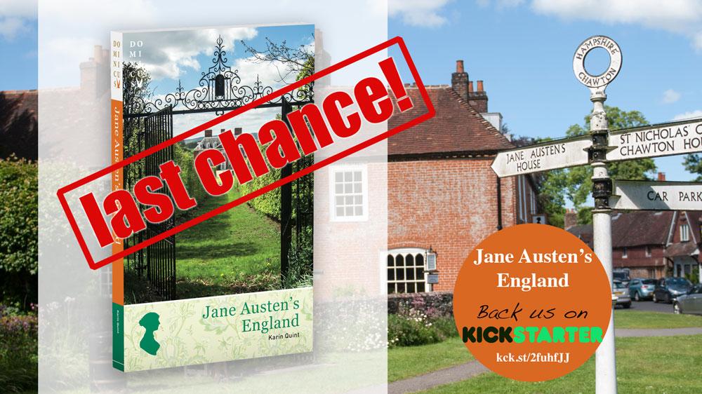 Laatste dagen voor Jane Austen's England Kickstarter project