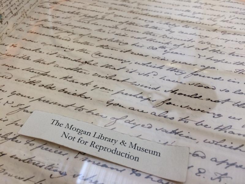 Originele brieven lezen in de Morgan Library, New York