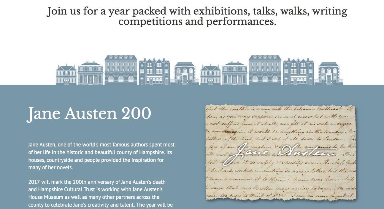 Hampshire bereidt zich voor op 200 jaar Jane Austen