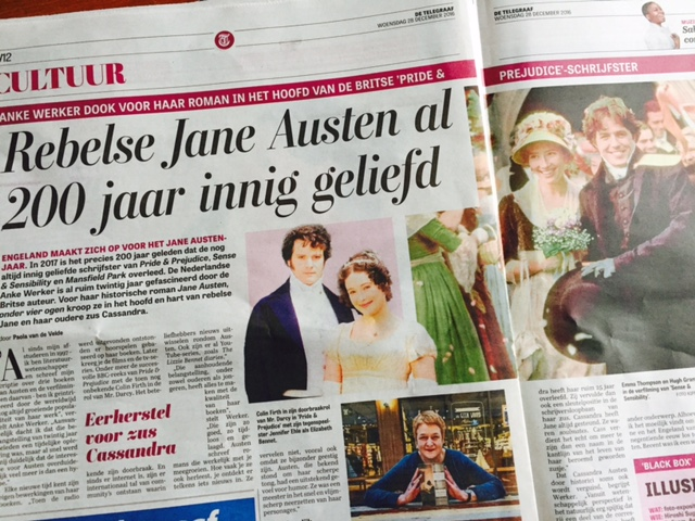Interview Anke Werker in De Telegraaf: 'Jane was een rebel in regencyjurk'