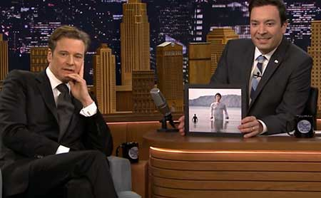Colin Firth bij Jimmy Fallon