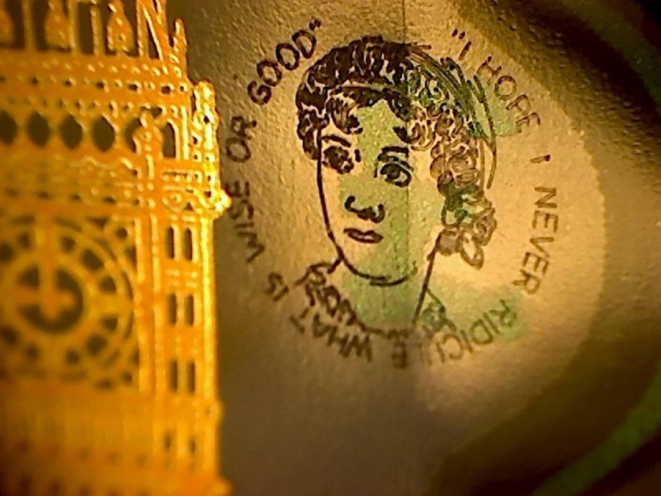 Jane Austen op het 5 pondbiljet
