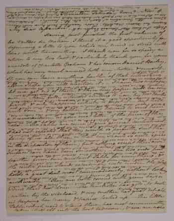 Janes brief aan Cassandra, november 1800.