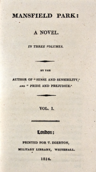 Mansfield Park title page