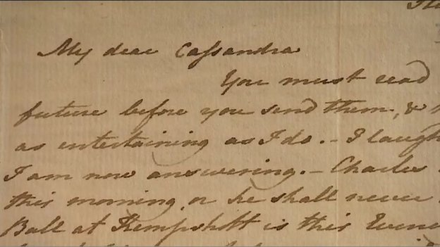 Museum verkoopt brief van Jane Austen