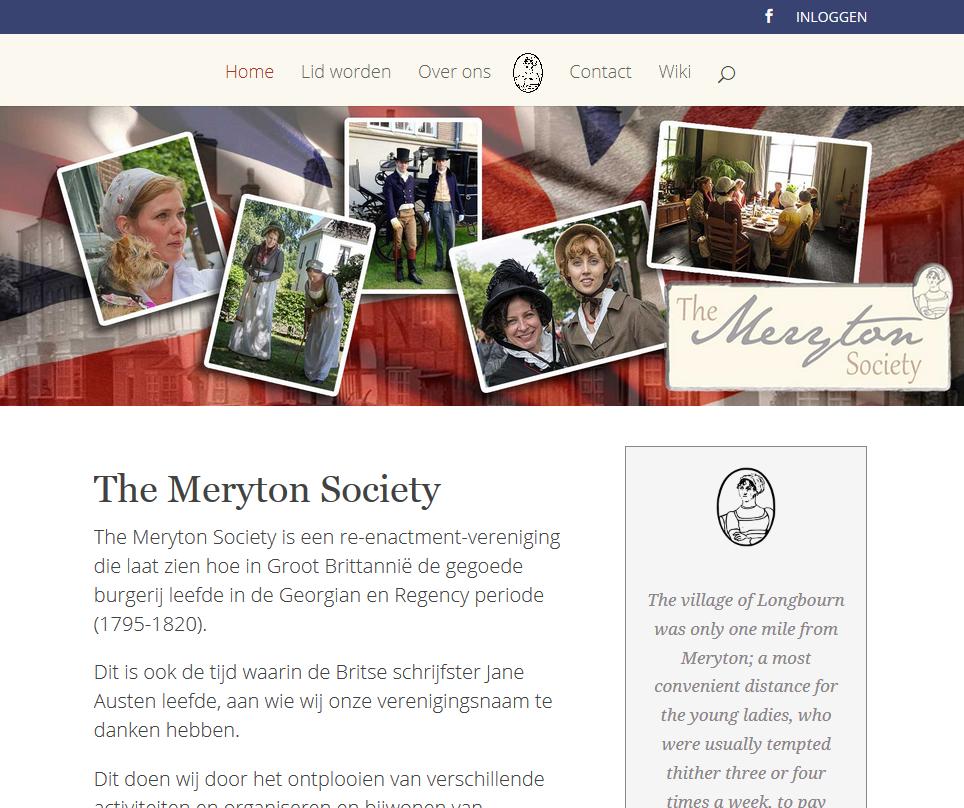Nieuwe website voor The Meryton Society